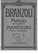 Theoretical and Practical Methode for Roman and Neapolitan Mandolin